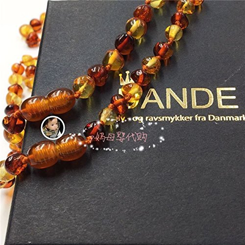 Generic Denmark_stock_repurchase_ Natural _Baltic_amber_ necklace pendant _infant_teething_baby_calm_succinate by Generic (Image #3)