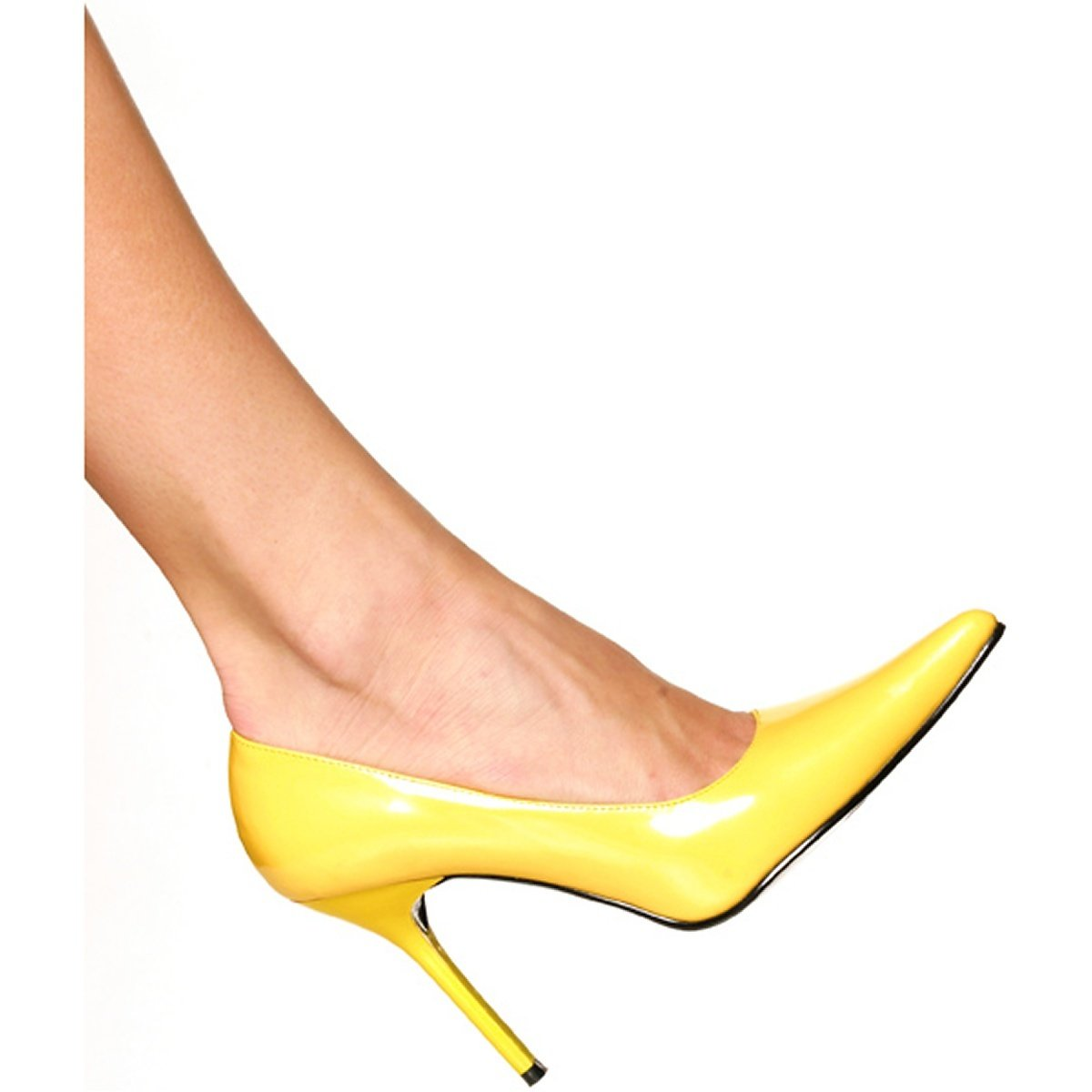 The Highest Heel Women's Classic Pump B000T88OLK 11 B(M) US|Yellow Patent Pu