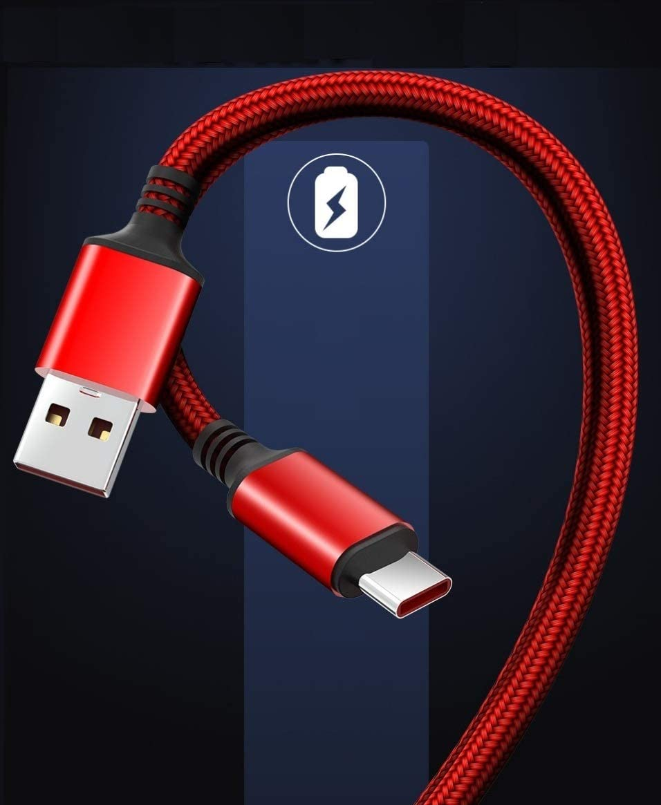 for OnePlus Cable Oneplus 3/3t/5/5t/6/6t/7/7t/8 Pro Cable 6.6 Feet Data Cable Dash Warp Charge Cable for OnePlus 3 3t 5 5t 6 6t 7 7T 8 pro Charging [Compact Trangle-Free] (Red)