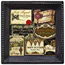 Thirstystone Ambiance Coaster Set, French Wine Labels, Multicolored