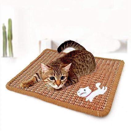 PAWACA Alfombrilla de sisal Natural para Gato, rascador para Gatos, respetuosa con el Medio