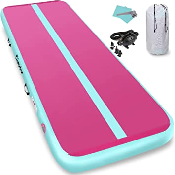 CNSPORT Airtrack Tapis de Gymnastique Gonflable Air Track pour Gymnaste Tumbling Yoga