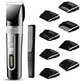 Hair Clippers for men, Cordless Hair Trimmer, Professional Haircutting Kit, Waterproof USB Rechargeable Haircut Grooming Kit with 4 Combs for Home Styling