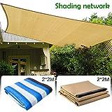 eronde 90% Sunblock Shade Cloth, 6'x 6' Sun Mesh Shade Sunblock Shade Sail for Carport, Pergola,Greenhouse Flowers, Plants, Patio Lawn and Pet House