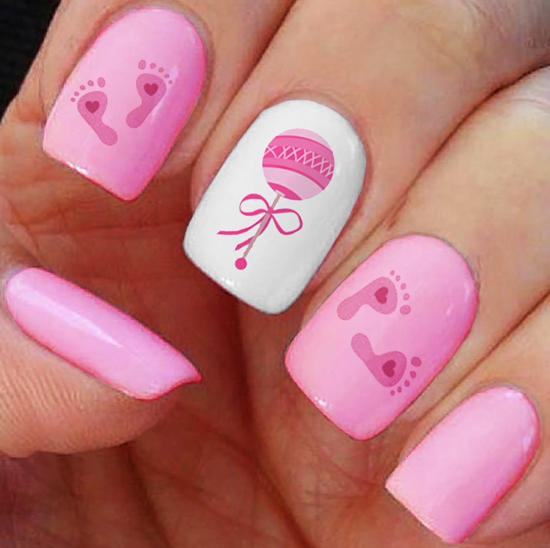 Nail Art Decals   Footprints, Strollers U0026 More! Great Baby Shower Gift!:  Beauty