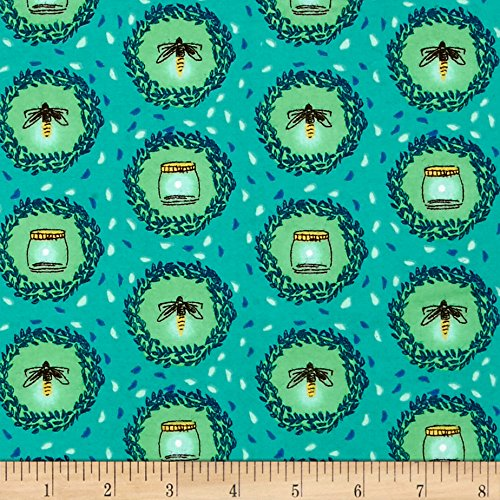 ander Flannel Glow Friends Sea Fabric By The Yard (Michael Miller Flannel Fabric)