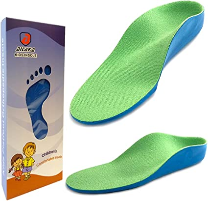 Kids Shoes Arch Insole Sneaker Insert Cushion U-shaped Heel Design Comfortable