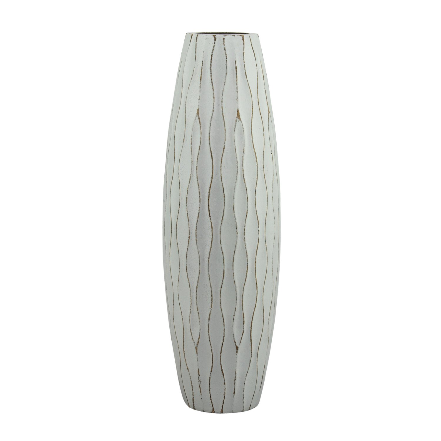 Stonebriar Beach Nostalgia Medium Weathered Pale Ocean Wood Vase