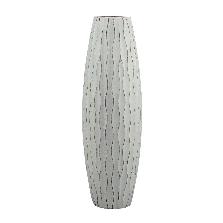 Stonebriar Beach Nostalgia Medium Weathered Pale Ocean Wood Vase