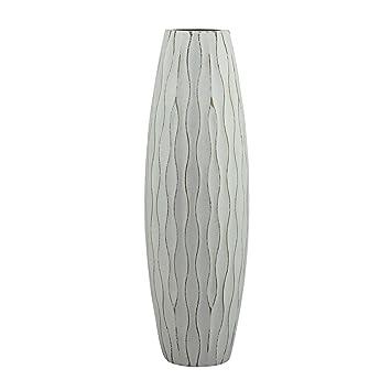 Amazon.com: Stonebriar Vintage Textured Pale Ocean Blue Wooden Vase ...