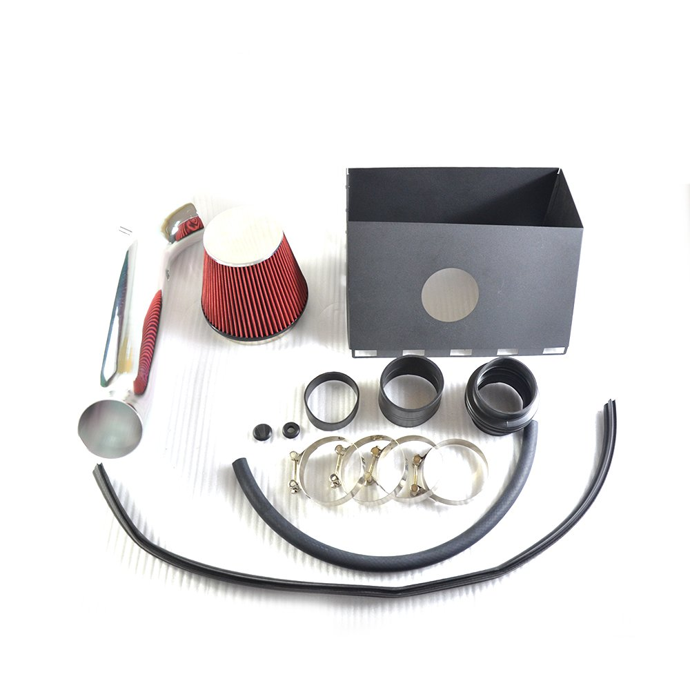 Black Performance Cold Air Intake Kit With Filter For Dodge 2002-2008 Ram 1500 4.7L /& 2003-2008 Ram 2500 5.7L V8