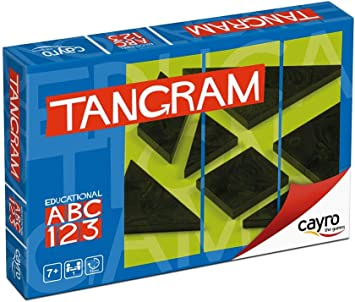 Cayro - Tangram en Caja de cartón - Juego de razonamiento y Creatividad - Juego de Mesa - Desarrollo de Habilidades cognitivas e inteligencias múltiples - Juego de Mesa (123/A): Amazon.es: Juguetes y juegos