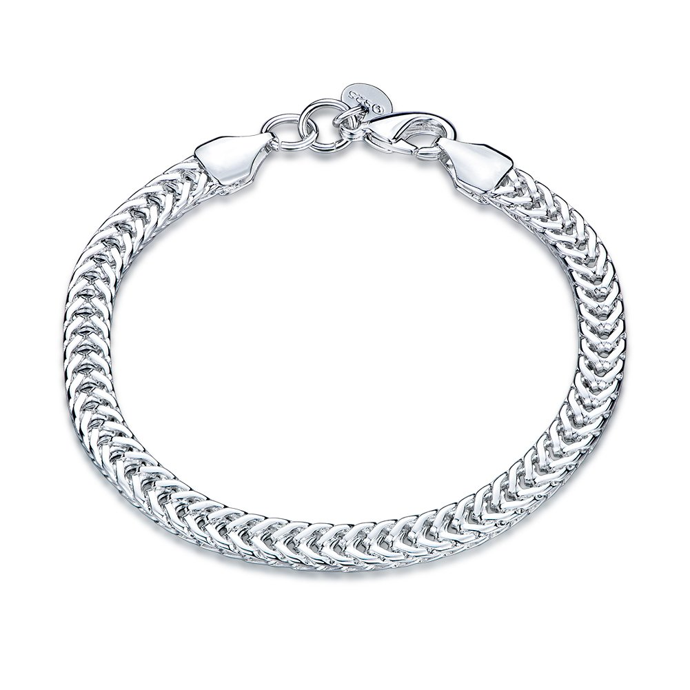 fashionbeautybuy Women Romantic Bracelet Flat Snake Shape Hollow Out Bangle Silver Plated Body Chain Jewelry Wristband