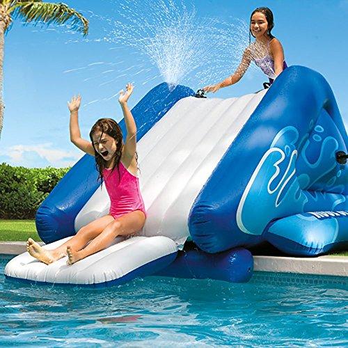 Intex kool splash inflatable swimming pool water slide - Playmobil swimming pool with waterslide ...