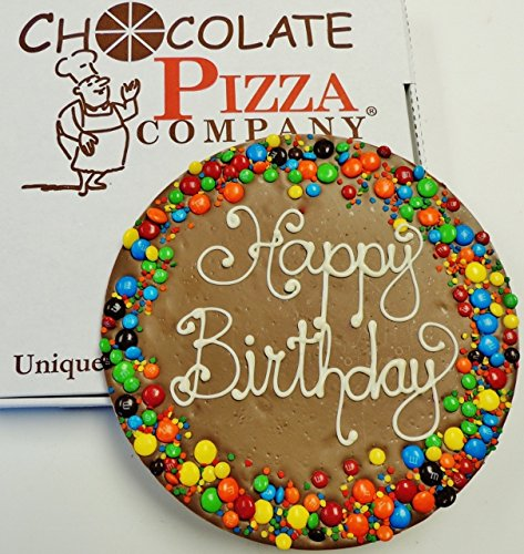 Chocolate Pizza®, Happy Birthday, 14 Ounce, 10 Inch, Hand-Decorated, Made in USA