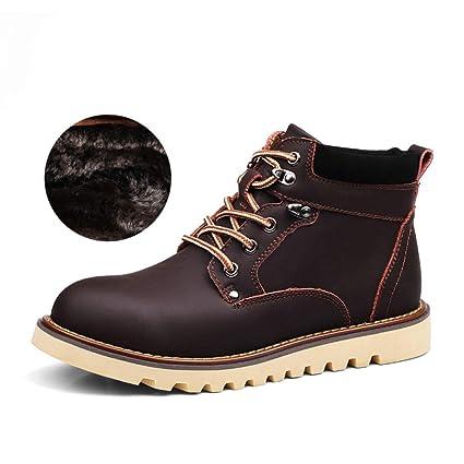 FHCGMX Cuero para Hombres Botas Primavera, otoño e Invierno, Hombres, Zapatos, Botines