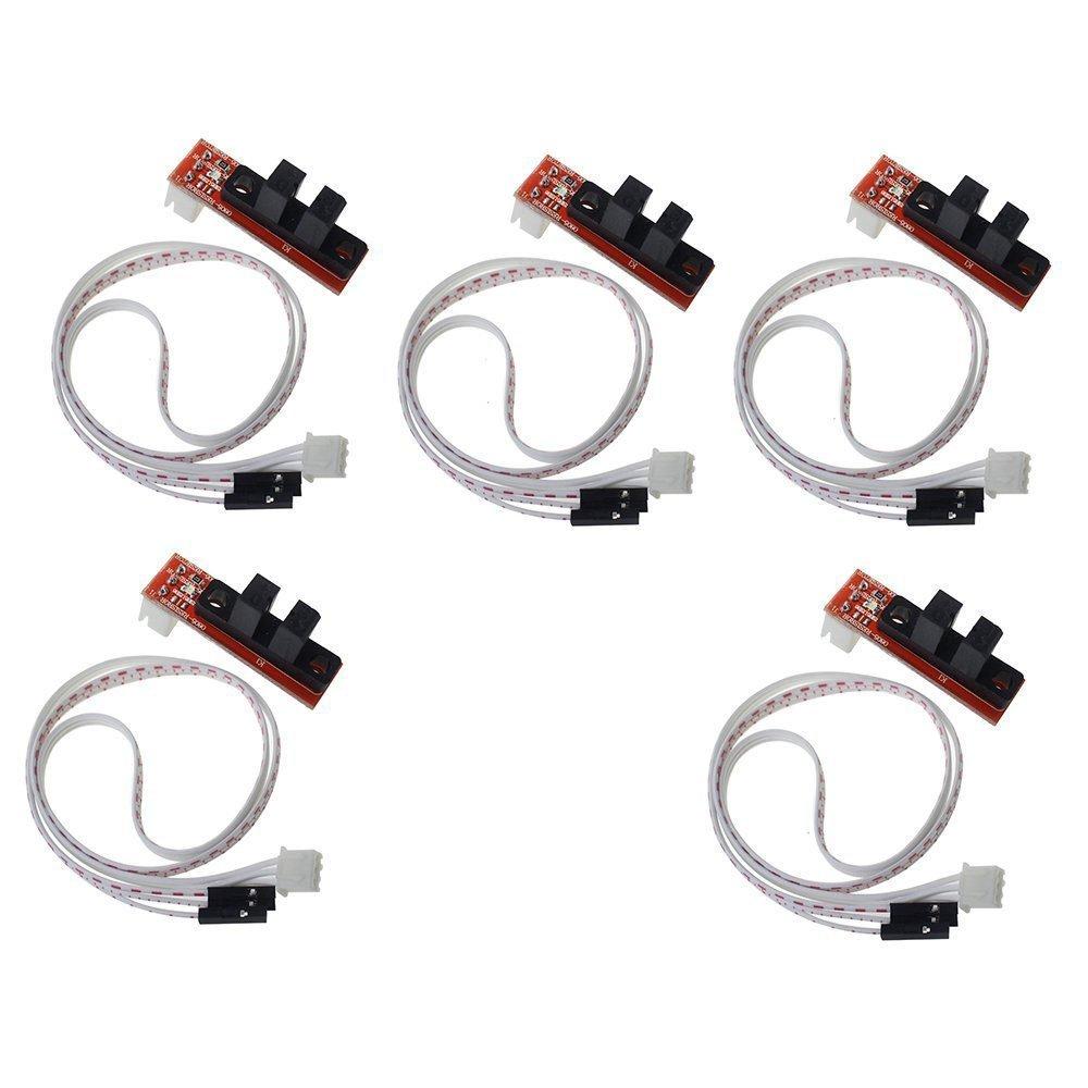 WINGONEER Arrêt optique mécanique de fin de course d'imprimante de commande numérique par ordinateur avec câble pour rampes 1.4 Makerbot Prusa Mendel RepRap (paquet de 5pcs)