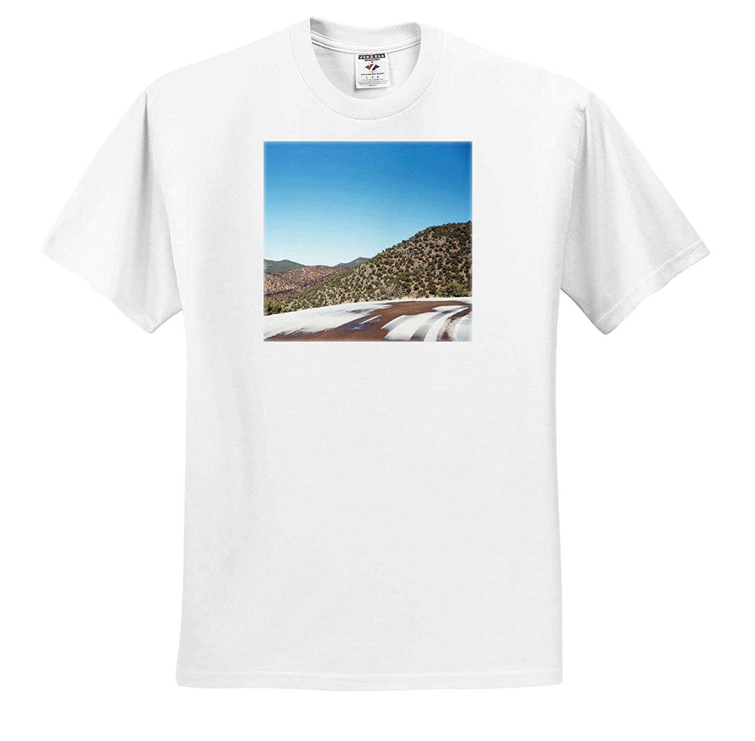 A Backroad in Southern Utah with Snow Tracks on it 3dRose Jos Fauxtographee Road with Snow T-Shirts