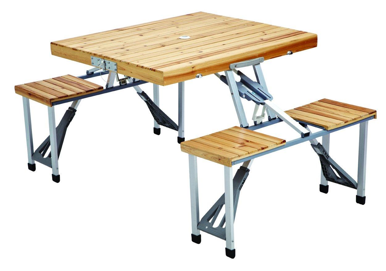 amazoncom leisure season pft12 portable folding picnic table patio lawn u0026 garden