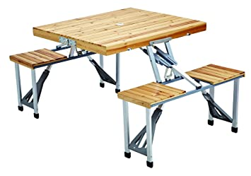 Awesome Leisure Season PFT12 Portable Folding Picnic Table