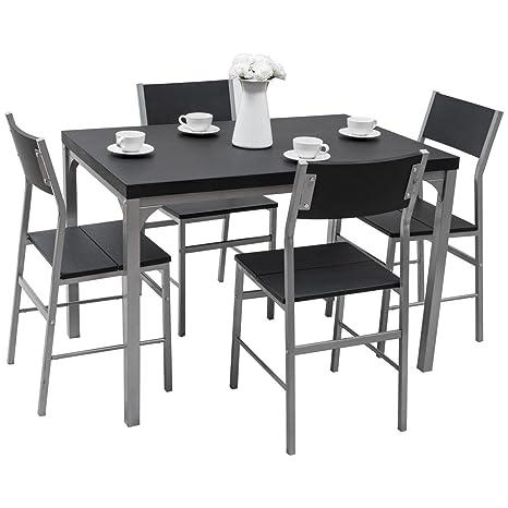 Amazon.com: Oscuro Juego de 5 piezas Juego de mesa de ...
