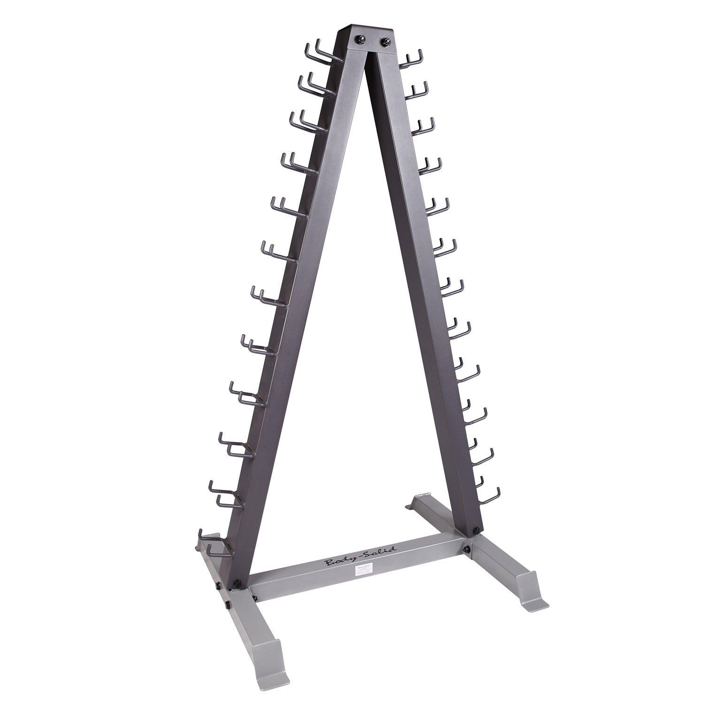 Body-Solid Vertical Dumbbell Rack (12 Pair), Grey/Black
