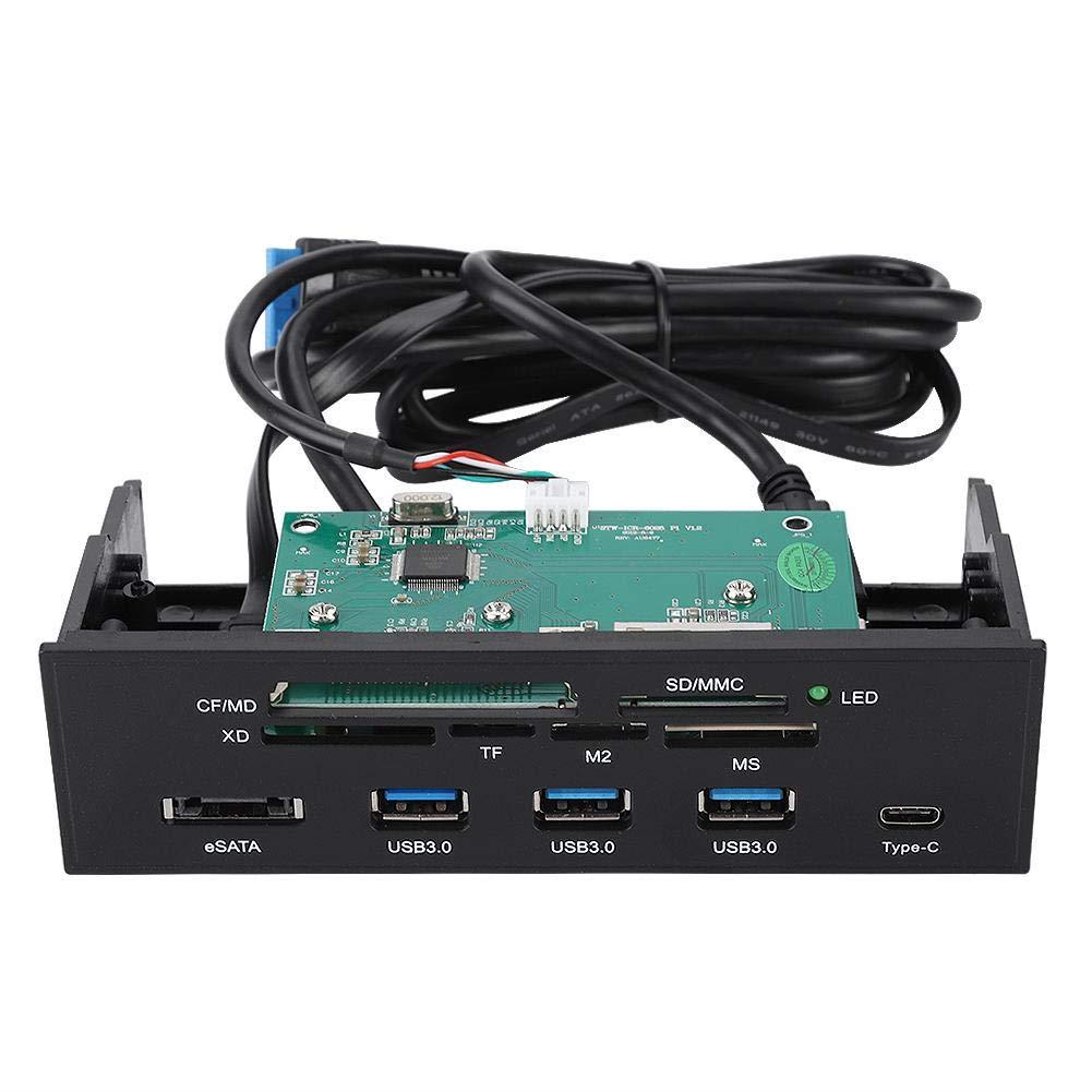 5.25Interner Kartenleser MS- Multifuntions Interner Card Reader Dashboard PC Frontplatte Unterst/ützung f/ür M2- XD- und 64G TF Karten eSATA- und USB 3.1 Port MSO- SD-
