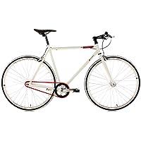 "KS Cycling Essence Vélo Fixie 28"" Blanc 59 cm"