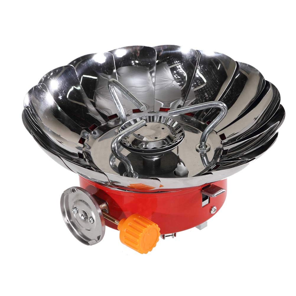 Vosarea Windproof Burner Foldable Camp Stove Burner Portable Outdoor Backpacking Camping Stove (Integrated)