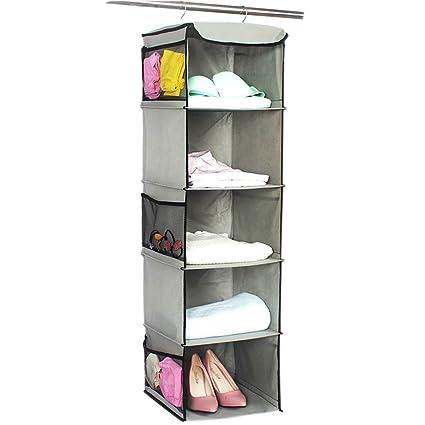 Zerone Armario de 6 Niveles Armario Colgante Estante Zapatos Ropa Ropa Organizador de Almacenamiento