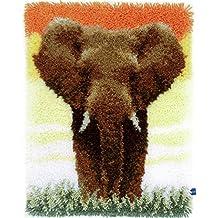 Latch Hook Kit: Rug: Elephant in the Savannah