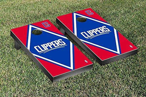 Los Angeles LA Clippers NBA Basketball Regulation Cornhole Game Set Diamond Version by Victory Tailgate