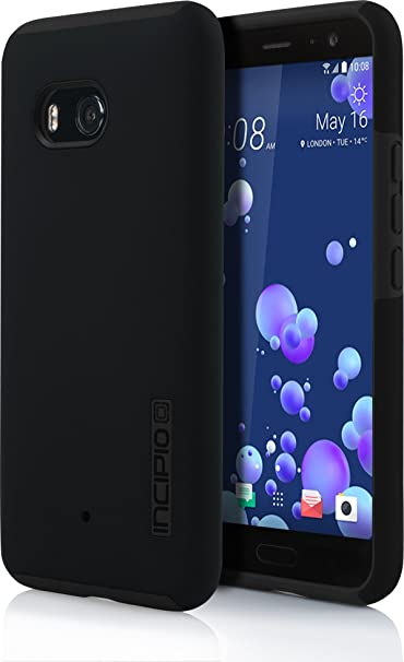 best sneakers bd9f4 838ef Incipio DualPro HTC U11 Case with Shock-Absorbing Inner Core & Protective  Outer Shell for HTC U11 - Black/Black