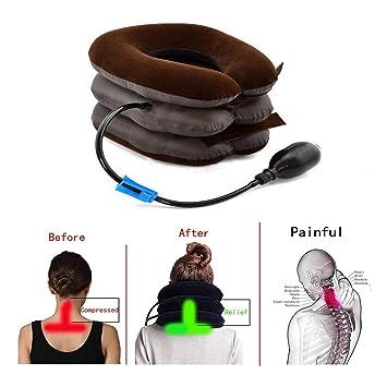 Tracción Cervical Inflable Cuello Espalda Cuello Cabeza ...