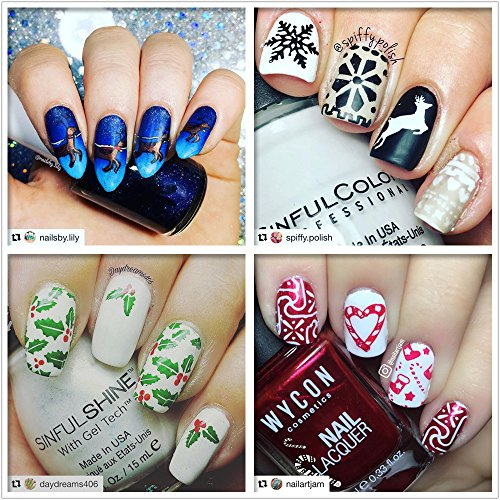 ejiubas stamping plates christmas nail stamping kits