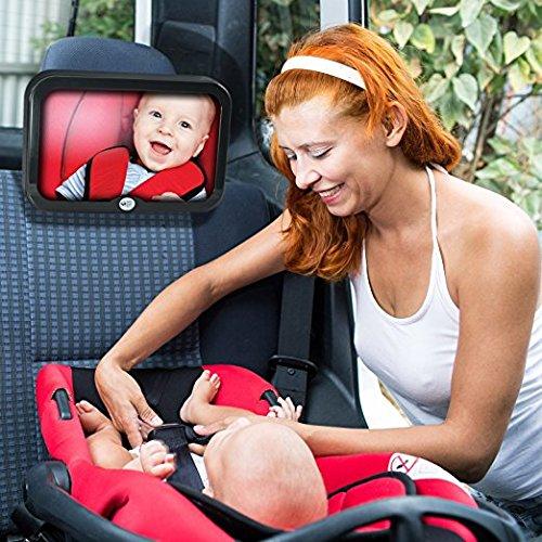 Home-Neat Specchio auto regolabile per bambini Specchietto per sedili posteriori 24.5 cm x 17.5 cm