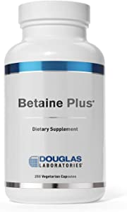 Douglas Laboratories - Betaine Plus - Betaine Hydrochloride with Pepsin to Support Digestion - 250 Capsules