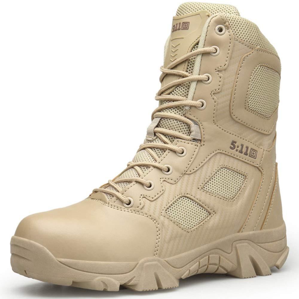 AALHM Stiefel  Herren High Top Schuh Leder Martin Schuhe Outdoor Desert Mountaineering Wandern Patrol Stiefel Military Combat Army Tactics Stiefel Wear resistant