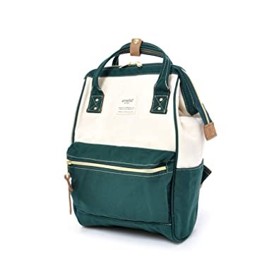 Amazon.com  Anello Official Green   White Japan Fashion Shoulder Rucksack  Backpack Casual School Tablet Diaper Bag  Shoes efc05e19d9