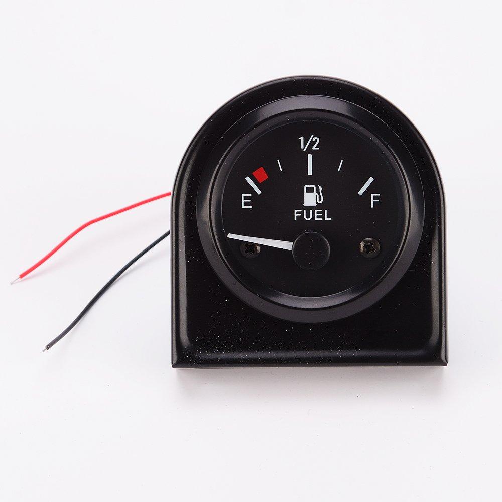 MagiDeal 2 '(52mm) Kraftstoff Anzeige Kraftstoffstandanzeiger Auto Tankanzeige Schwarz Tankanzeige Meter
