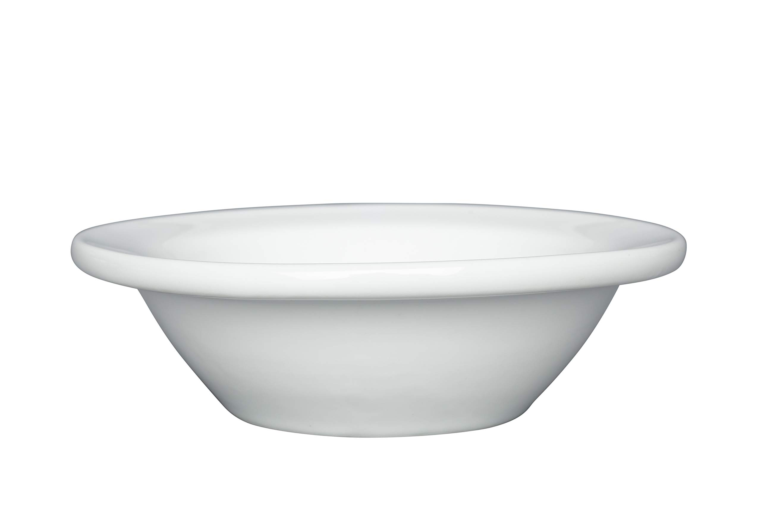 Chef Expressions 4-5/8'' Round Fruit Bowl, 3-ounce Capacity, Restaurant Quality, Vitrified Bright White Porcelain, Rolled Edge (Case of 12)