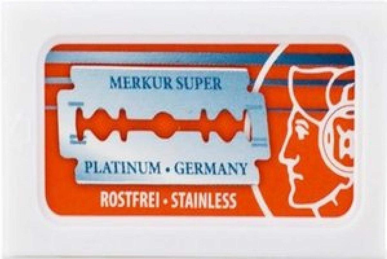 10 cuchillas de afeitar Merkur Super Platinum (1 paquete) + 5 cuchillas de afeitar Lord Cool