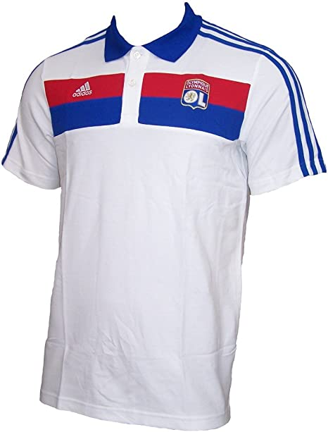 Apariencia Cita impuesto  Adidas Olympique Lyon Polo Shirt: Amazon.co.uk: Sports & Outdoors
