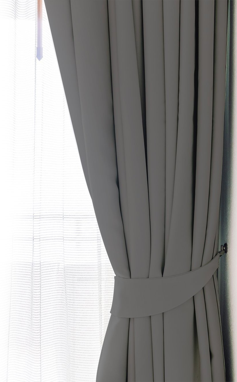 Blackout Room Darkening Curtains Window Panel Drapes Grey