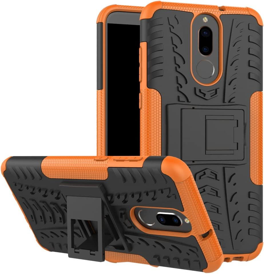 Para Huawei mate 10 Lite Smartphone Cover, OFU® Teléfono shell stent de resistencia a la caída de silicona blando, por Huawei mate 10 Lite tapa del neumático 360 grados armadura resistencia a caer perfil de protección (naranja)