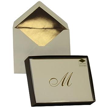 Designer greetings monogram boxed note cards letter m set of 10 designer greetings monogram boxed note cards letter m set of 10 count 00139 m4hsunfo