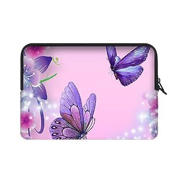 angelinana de mariposa Custom bolsa de ordenador portátil cubierta bolsa funda blanda para portátil resistente al