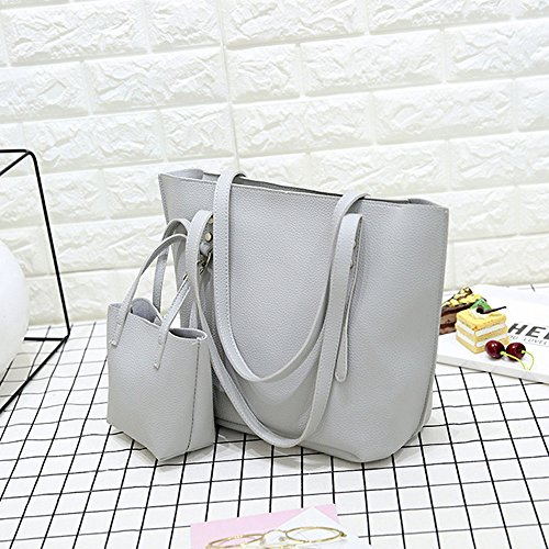 para Hombro Small al Negro Gris Backpacks Bolso showsing Mujer qwpIt77