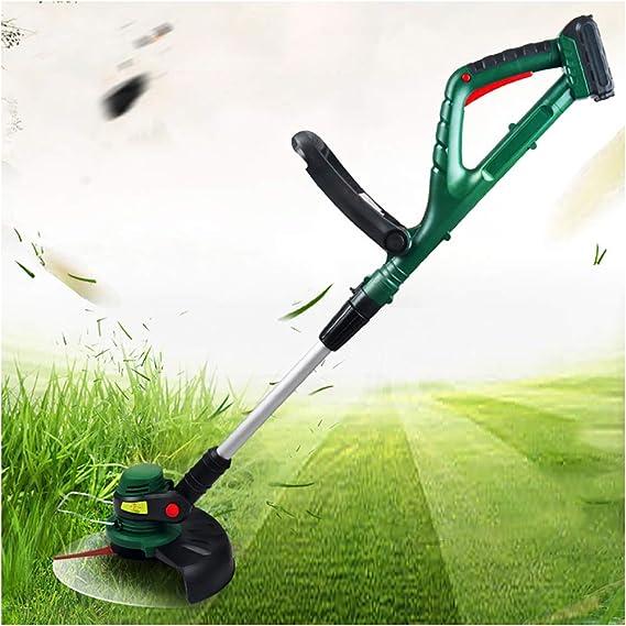 LOKS Casa Jardín Verde Cortar el césped eléctrica cortadora de césped, Portátil multifunción eléctrico pequeño cortadora de césped, el Voltaje es 20V, Capacidad de la batería 2.0Ah: Amazon.es: Deportes y aire libre