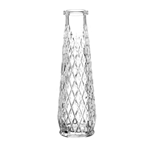 Flower Glass Vase, flowersea Decorative Rhombus Eartha Glass Vase D. 6,5cm h. 22cm